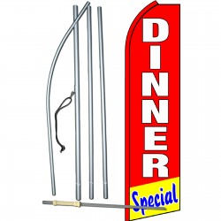 Dinner Special Red Swooper Flag Bundle