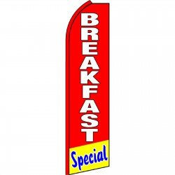 Breakfast Special Red Swooper Flag