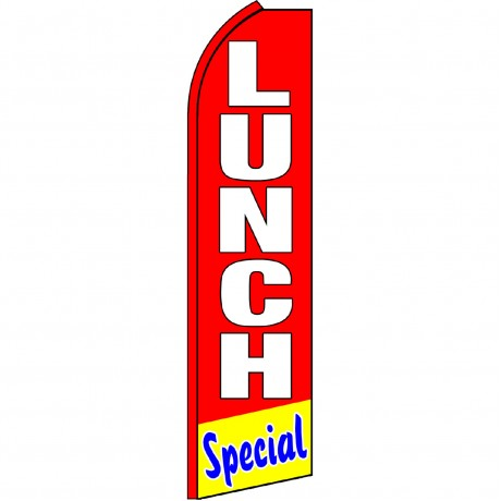 Lunch Special Red Swooper Flag
