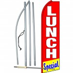 Lunch Special Red Swooper Flag Bundle