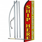 Ship Here Red & Yellow Swooper Flag Bundle