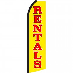 Rentals Yellow Swooper Flag