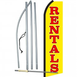 Rentals Yellow Swooper Flag Bundle