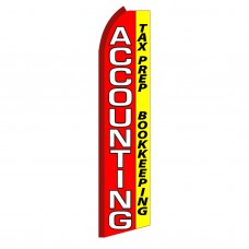 Accounting Red & Yellow Swooper Flag