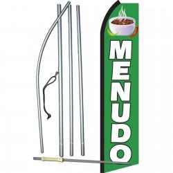 Menudo Green & White Swooper Flag Bundle