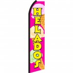 Helados Pink & Yellow Swooper Flag