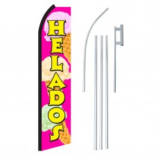 Helados Pink & Yellow Swooper Flag Bundle