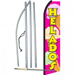 Helados Pink & Yellow Swooper Flag Bundle