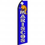 Mariscos Blue & White Swooper Flag