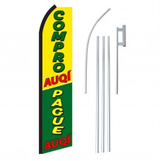 Compro/Pague Auqi Swooper Flag Bundle