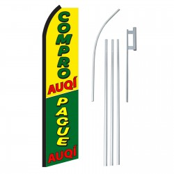 Compro/Pague Auqi Swooper Flag Bundle