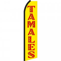 Tamales Yellow & Red Swooper Flag