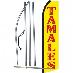 Tamales Yellow & Red Swooper Flag Bundle