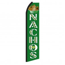 Nachos Green & White Swooper Flag