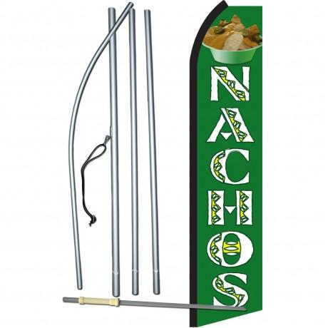 Nachos Green & White Swooper Flag Bundle
