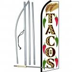 Tacos w & Graphics Swooper Flag Bundle