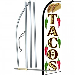 Tacos w & Graphics Swooper Flag Bundle