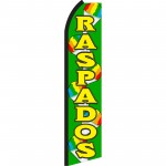 Raspados Green Swooper Flag
