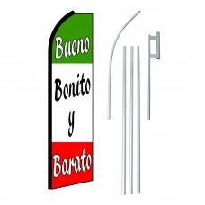 Bueno Bonito Y Barato Swooper Flag Bundle