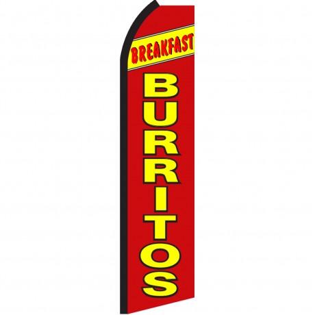 Breakfast Burritos Red Swooper Flag