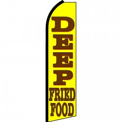 Deep Fried Food Yellow Swooper Flag