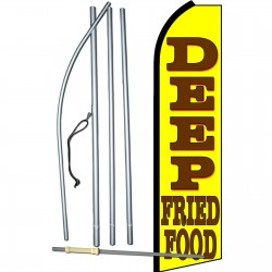 Deep Fried Food Yellow Swooper Flag Bundle