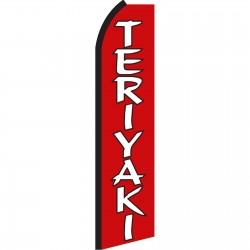 Teriyaki Red & White Swooper Flag