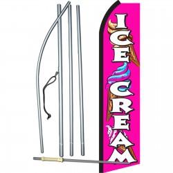 Ice Cream Pink Swooper Flag Bundle