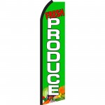 Fresh Produce Green Swooper Flag