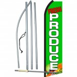 Fresh Produce Green Swooper Flag Bundle