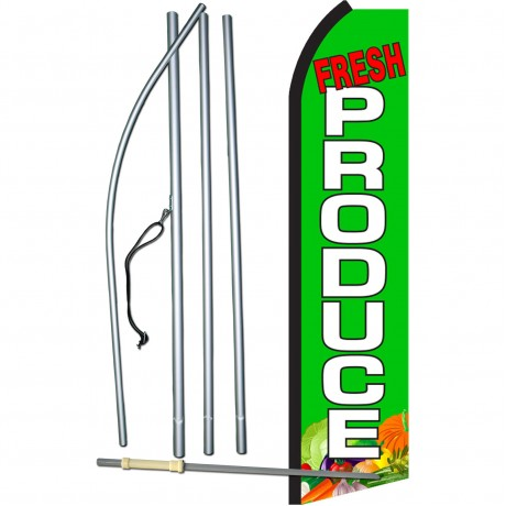 Fresh Produce Green Swooper Flag Bundle