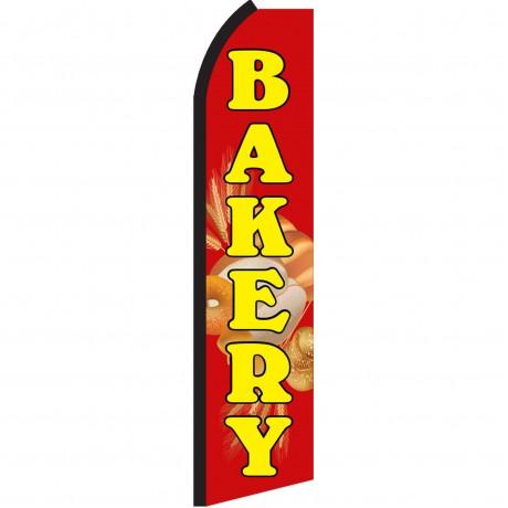 Bakery Red Swooper Flag