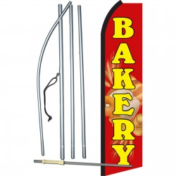 Bakery Red Swooper Flag Bundle