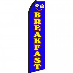 Breakfast Blue Swooper Flag