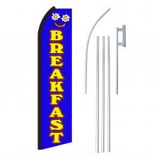Breakfast Blue & Yellow Swooper Flag Bundle