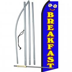 Breakfast Blue Swooper Flag Bundle