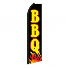 BBQ Black & Yellow Swooper Flag