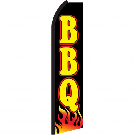 BBQ Black Flames Swooper Flag