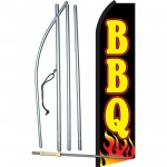 BBQ Black Flames Swooper Flag Bundle
