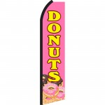 Donuts Pink & Yellow Swooper Flag