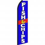 Fish & Chips Blue Swooper Flag