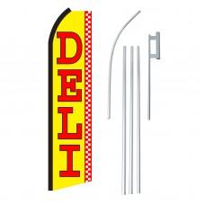 Deli Yellow & Red Swooper Flag Bundle