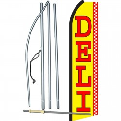 Deli Yellow Swooper Flag Bundle