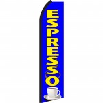 Espresso Blue & Yellow Swooper Flag