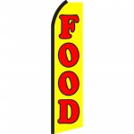 Food Yellow Swooper Flag