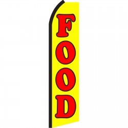 Food Yellow Swooper Flag