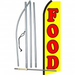 Food Yellow Swooper Flag Bundle