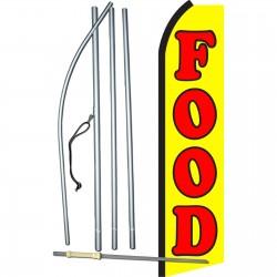 Food Yellow Swooper Flag Bundle
