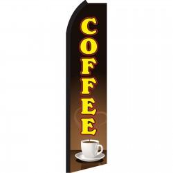 Coffee Brown Yellow Swooper Flag
