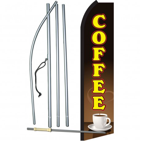 Coffee Brown Yellow Swooper Flag Bundle